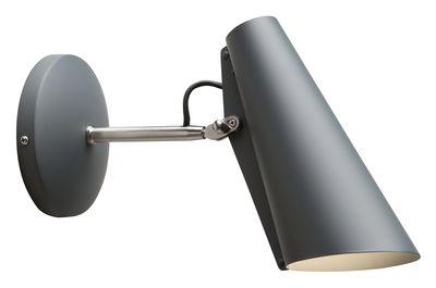 Birdy Wandleuchte mit Stromkabel / L 31 cm - Neuauflage des Originals von 1952 - Northern - Grau,Stahl