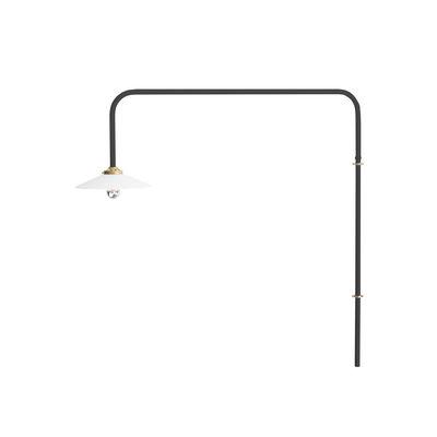 Leuchten - Wandleuchten - Hanging Lamp n°5 Wandleuchte mit Stromkabel / H 100 x L 90 cm - valerie objects - Schwarz - Glas, Stahl