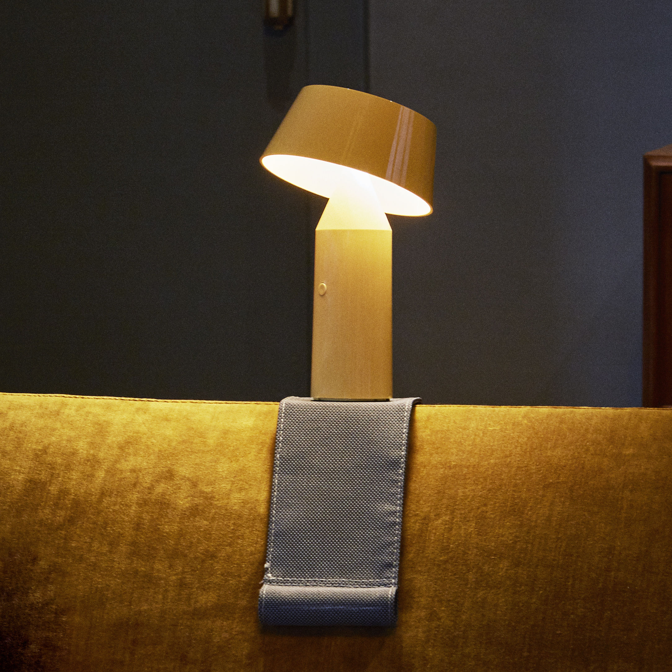 Lighting - Table Lamps - Fixation strap for armrest - / For the Bicoca lamp by Marset - Grey - Fabric, Metal