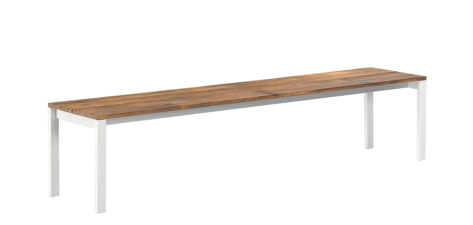 Möbel - Bänke - be-Easy Bank / Teakholz - 180 x 40 cm - Kristalia - Teakholz / lackierter Stahl - lackierter Stahl, Teakholz