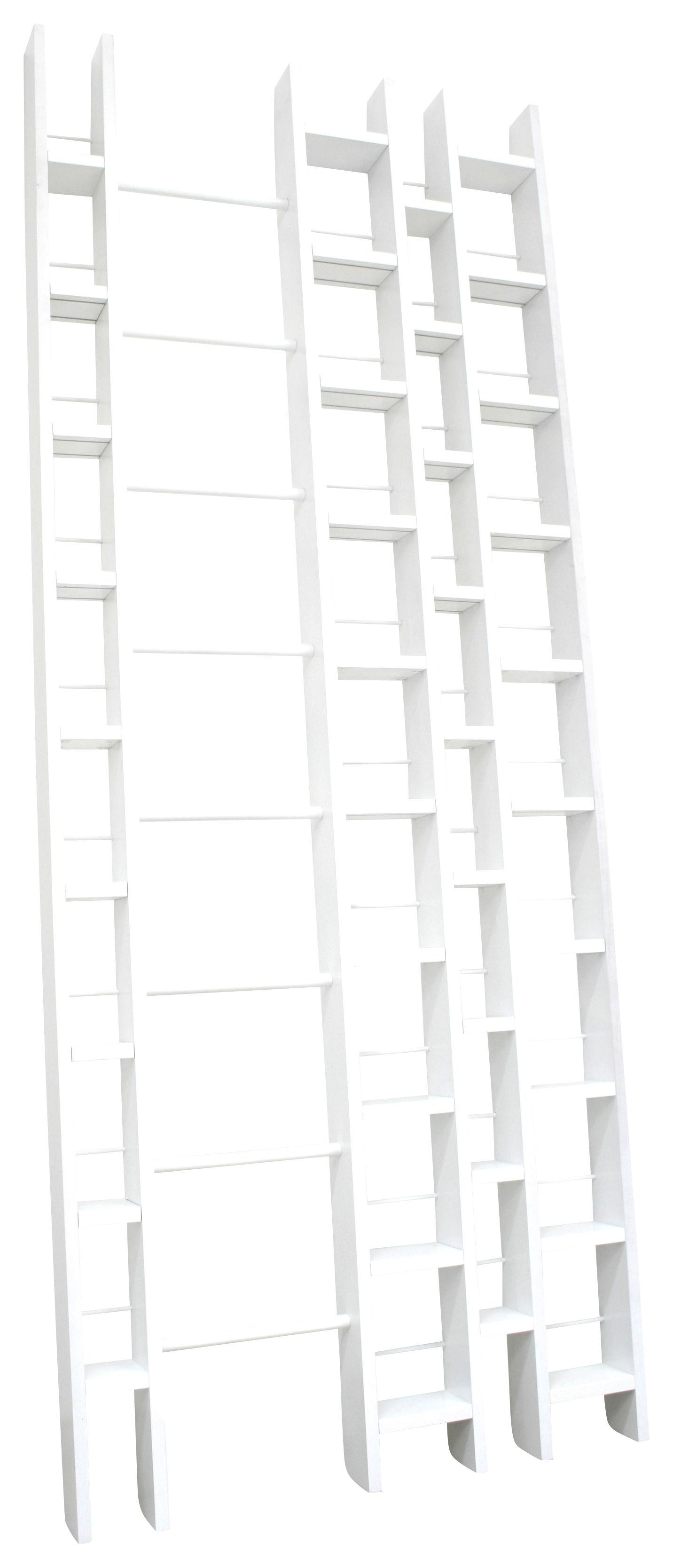 Mobilier - Etagères & bibliothèques - Bibliothèque Hô + / L 96 x H 240 cm - La Corbeille - Blanc - Hêtre massif laqué