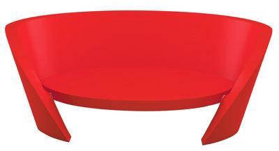Canapé droit Rap / L 170 cm - Slide rouge en matière plastique