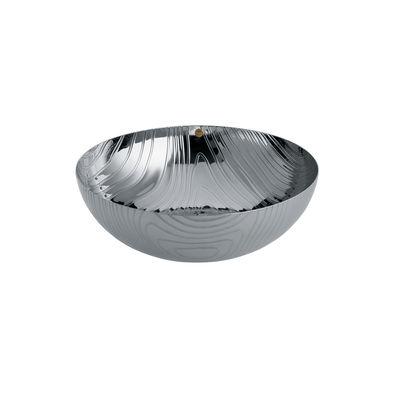Arts de la table - Corbeilles, centres de table - Coupe Veneer / Ø 21 cm - Acier avec motifs en relief - Alessi - Acier poli - Acier inoxydable