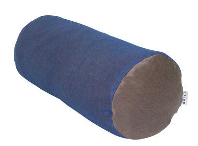 Coussin de sol Tube / Ø 25 x 60 cm - Trimm Copenhagen chocolat,bleu nuit en tissu