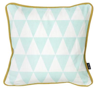 Interni - Cuscini  - Cuscino Little geometry - cotone - 30 x 30 cm di Ferm Living - Menta e bianco - Cotone