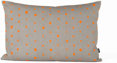 Decoration - Cushions & Poufs - Dotted Cushion - Small 60x40 cm by Ferm Living - Orange, Grey - Cotton