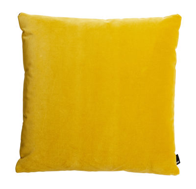 Decoration - Cushions & Poufs - Eclectic Cushion - / 50 x 50 cm by Hay - Yellow -  Plumes, Velvet, Wool