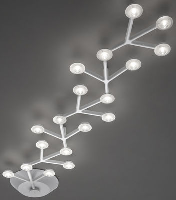 LED NET Deckenleuchte länglich - L 125 cm - Artemide - Weiß