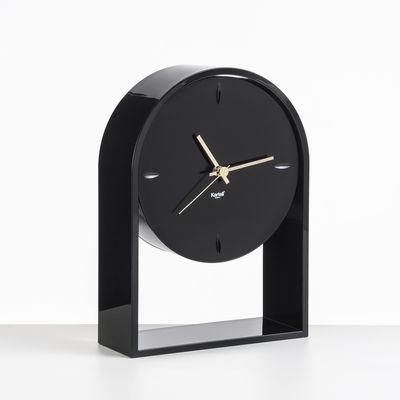 Decoration - Wall Clocks - L'Air du temps Desk clock - / H 30 cm by Kartell - Black / Black - Thermoplastic technopolymer