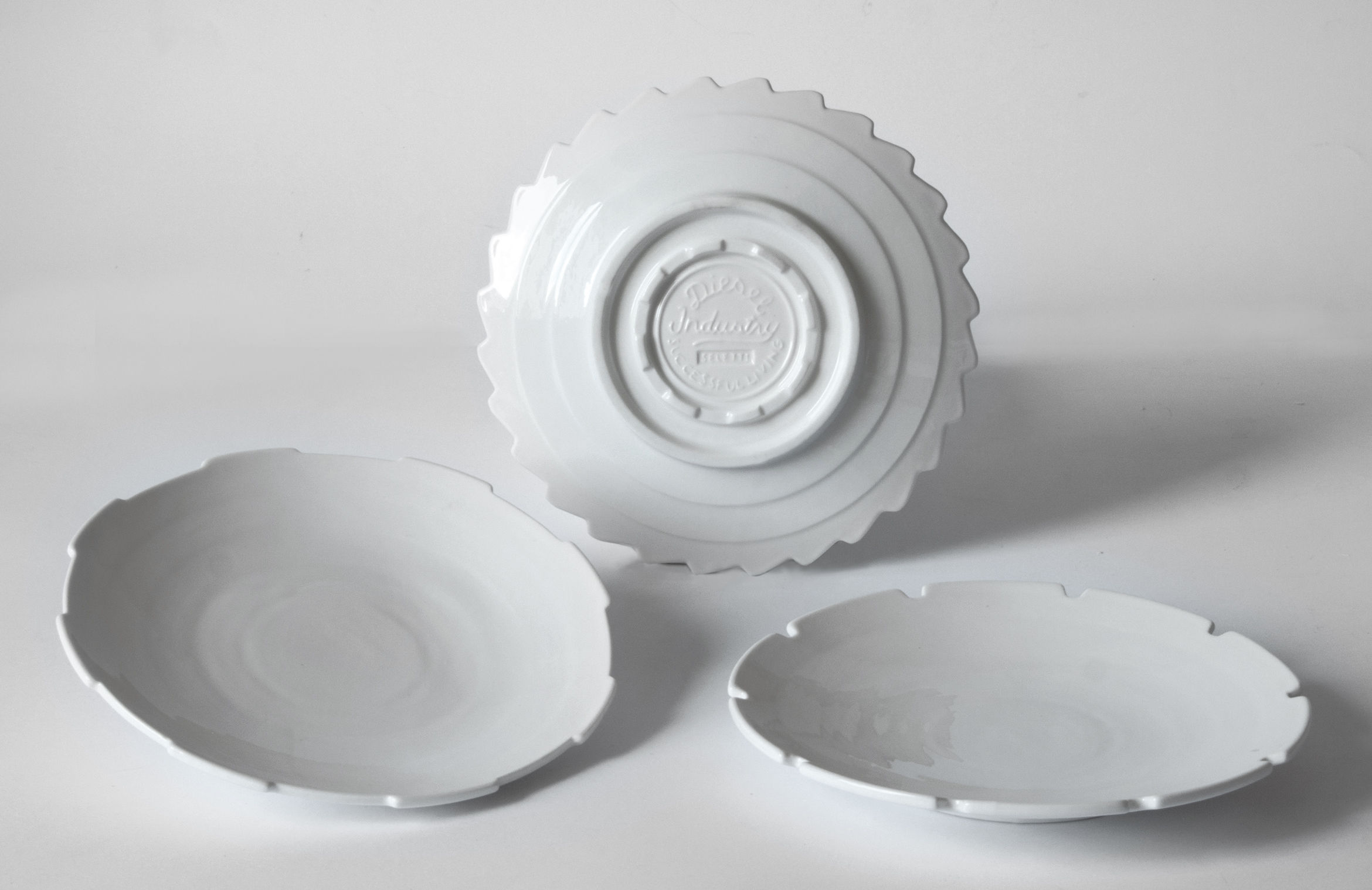 Tableware - Plates - Machine Collection Dessert plate - / Set of 3 - Ø 20 cm by Diesel living with Seletti - White - China