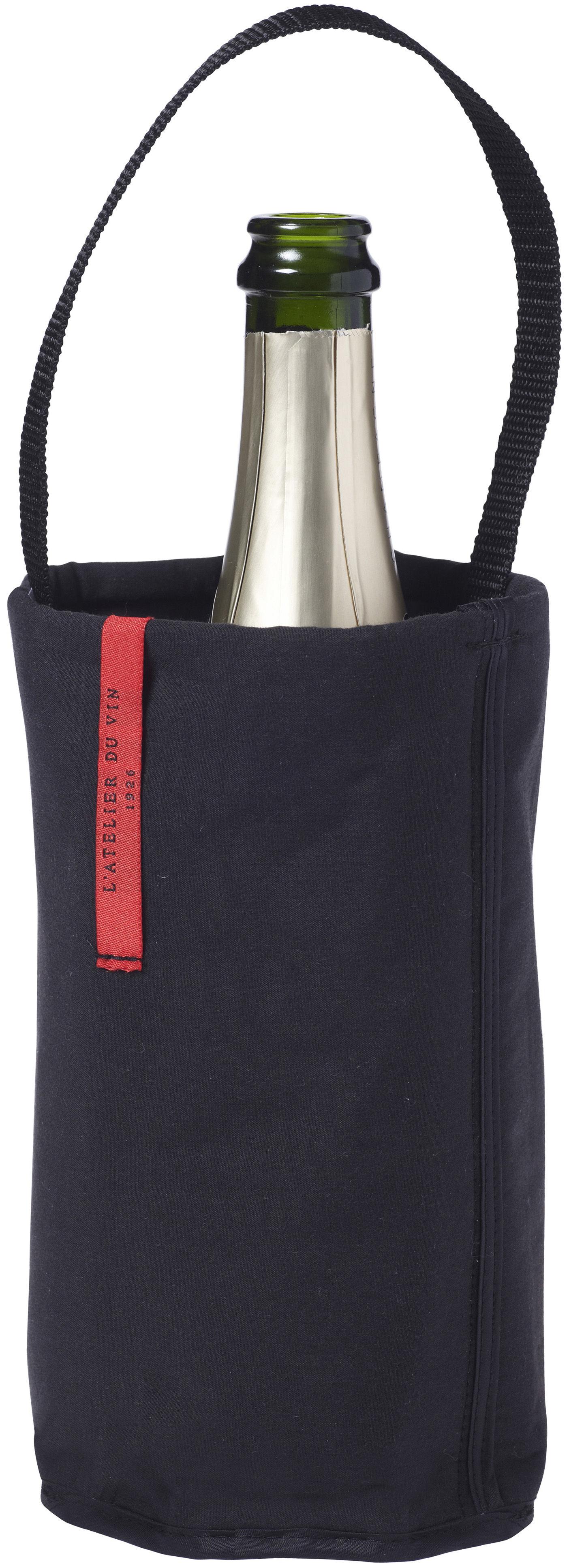 Tischkultur - Praktische Accessoires - Fresh Baladeur Flaschenkühler - L'Atelier du Vin - Schwarz - Baumwolle, Neopren, Polyesterfaser