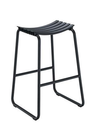 Furniture - Bar Stools - Clips High stool - / H 80 cm by Houe - Black - Aluminium, Plastic material