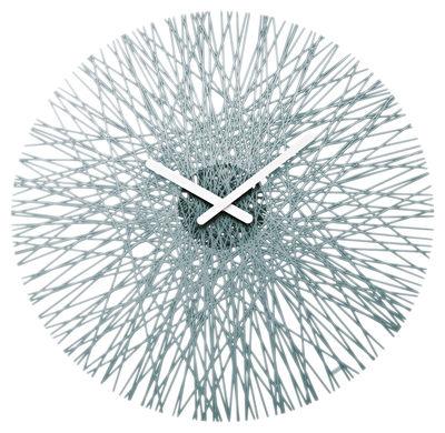 Déco - Horloges  - Horloge murale Silk - Koziol - Anthracite transparant - Polycarbonate