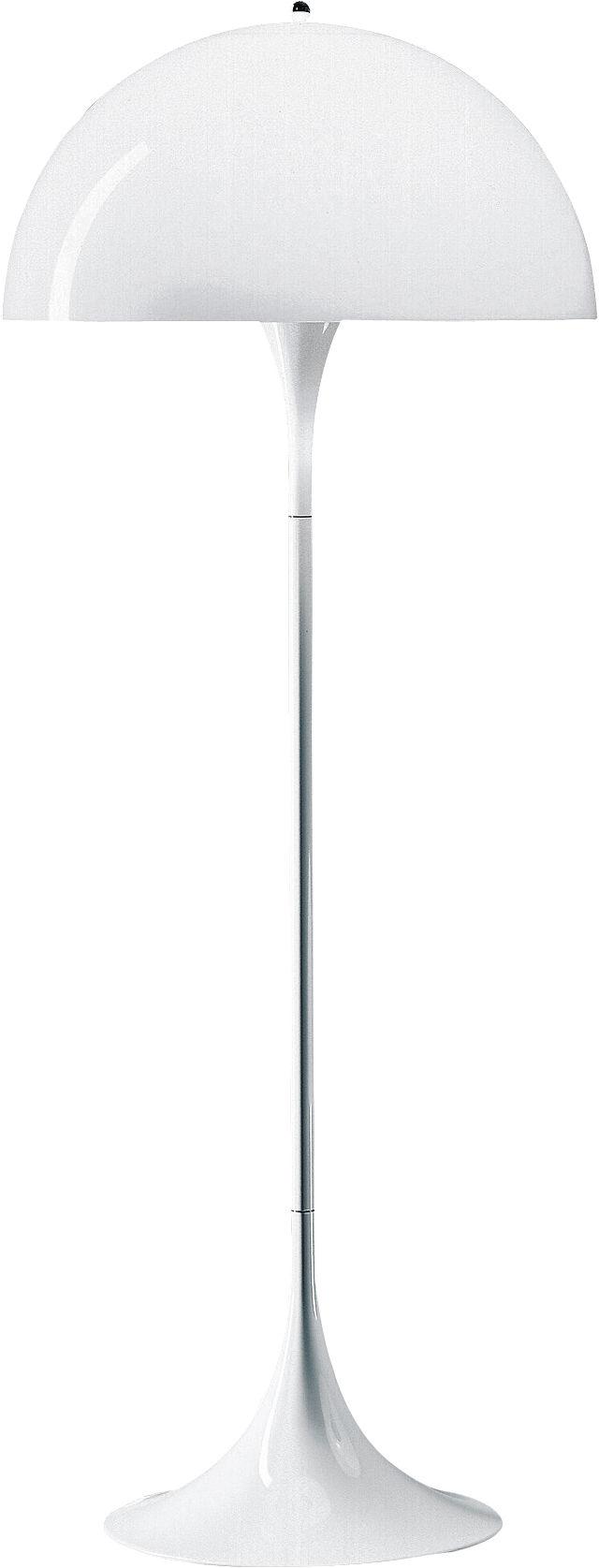 Luminaire - Lampadaires - Lampadaire Panthella / H 130,5 cm - Louis Poulsen - Blanc - ABS, Acrylique