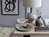 Lampe de table / Lin & terre cuite - H 58 cm - Bloomingville