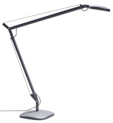 Lampe de table Volée LED - Fontana Arte gris foncé en métal