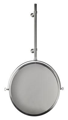 Miroir mural MbE / Orientable - Ø 44 cm - DCW éditions nickel brossé en métal