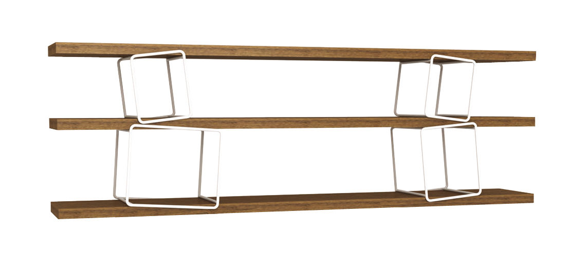 Möbel - Regale und Bücherregale - Quake Modul Set mit 4 Trägermodulen für Regalsystem - ENOstudio - Set mit 4 Trägermodulen weiß - lackierter Stahl