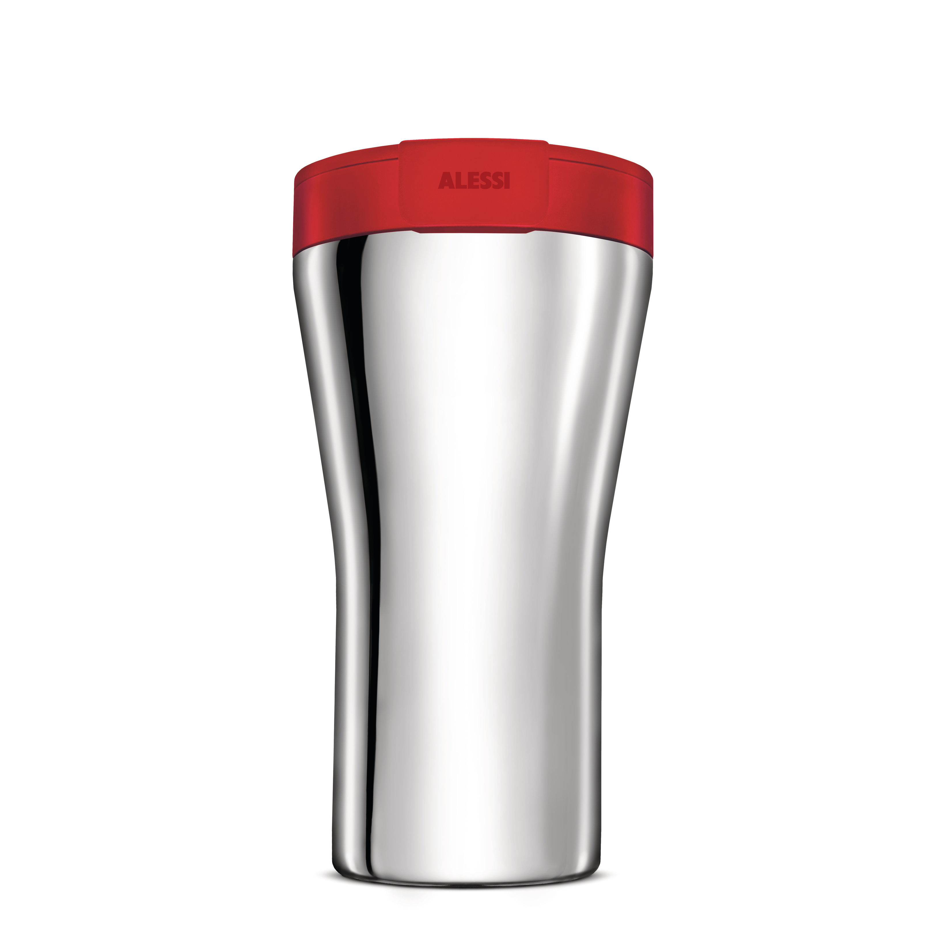 Arts de la table - Tasses et mugs - Mug isotherme Caffa / 40 cl - Alessi - Rouge / Acier - Acier inoxydable, Résine thermoplastique