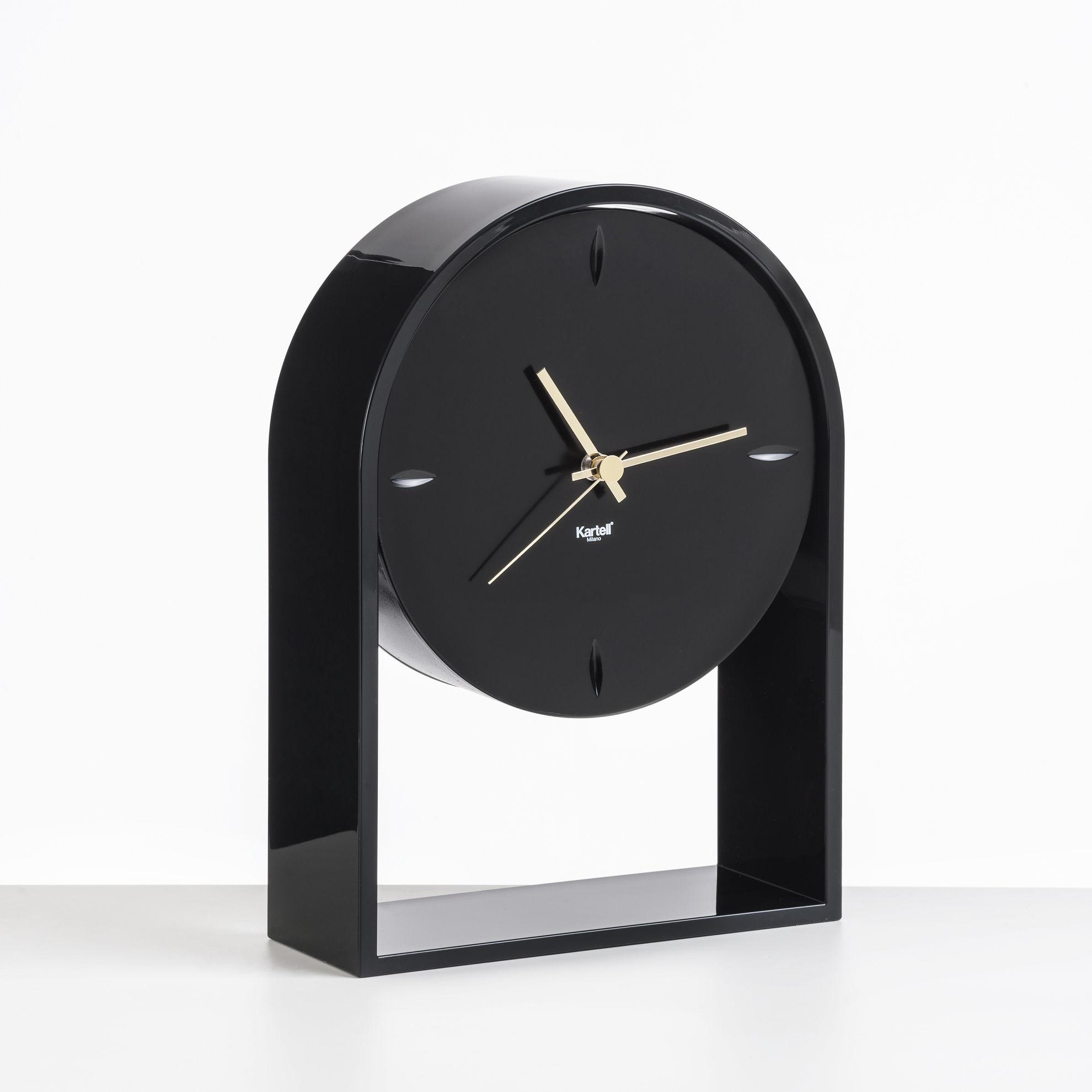 Interni - Orologi  - Orologio da posare L'Air du temps - / H 30 cm di Kartell - Nero / Nero - Technopolymère thermoplastique