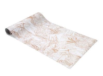 Papier peint Jungle / 1 rouleau - larg 70 cm - Petite Friture blanc/orange/cuivre en papier