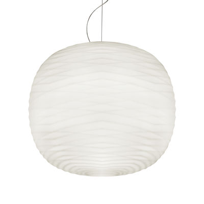 Lighting - Pendant Lighting - Gem LED Pendant - / Blown glass by Foscarini - White - Blown glass