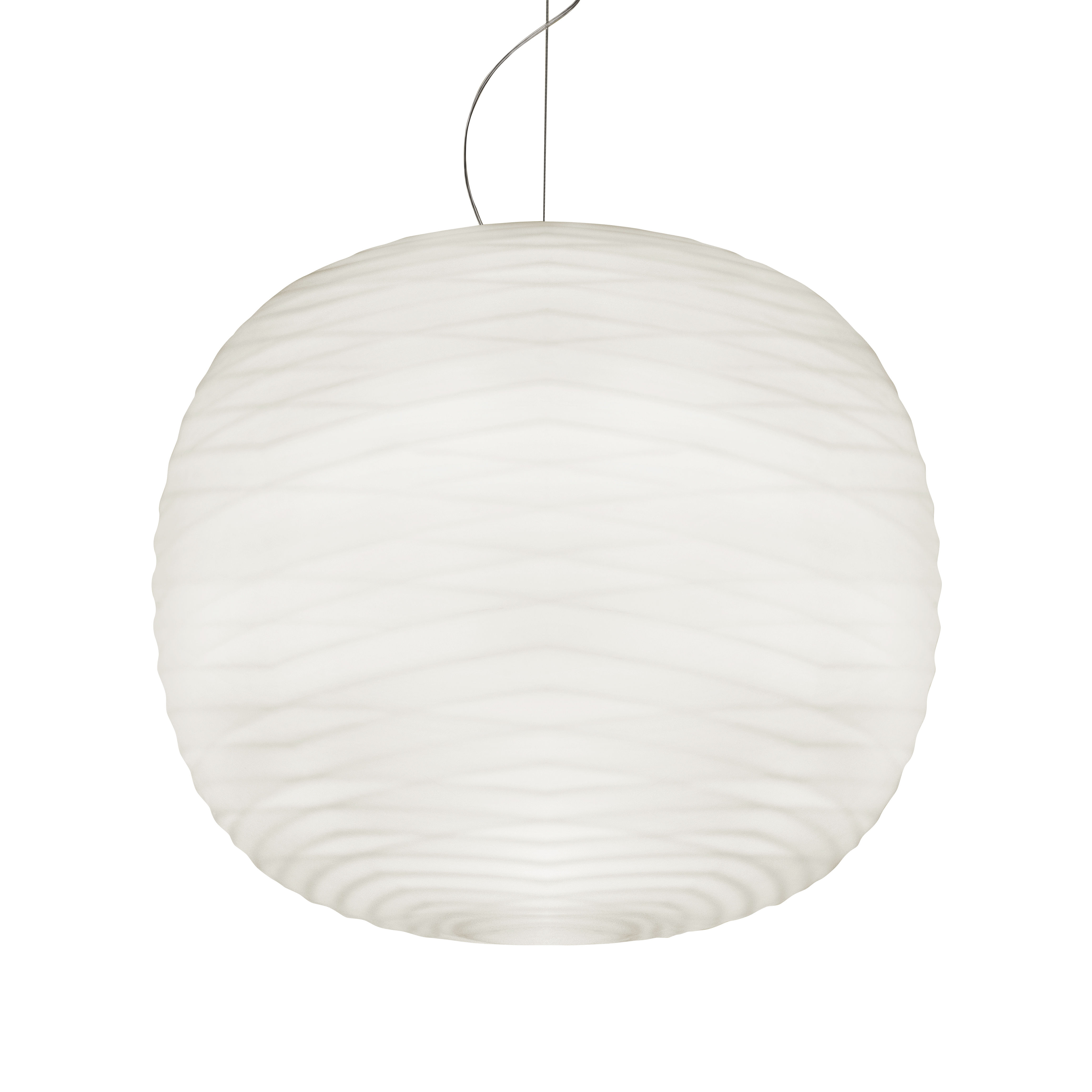 Lighting - Pendant Lighting - Gem LED Pendant - / Blown glass by Foscarini - White - Blown glass