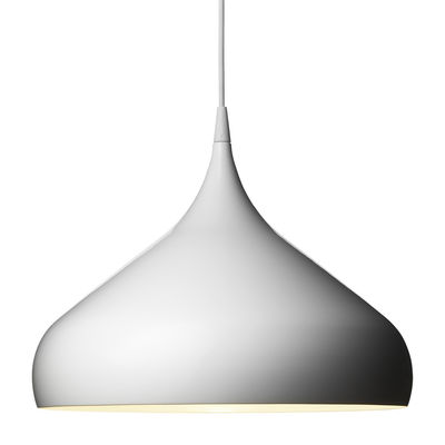 Lighting - Pendant Lighting - Spinning BH2 Pendant - ø 42 x 33 cm by And Tradition - White - Lacquered aluminium