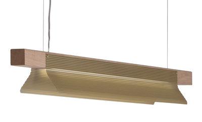 Bridget Pendelleuchte / L 160 cm - ENOstudio - Holz natur,Gold