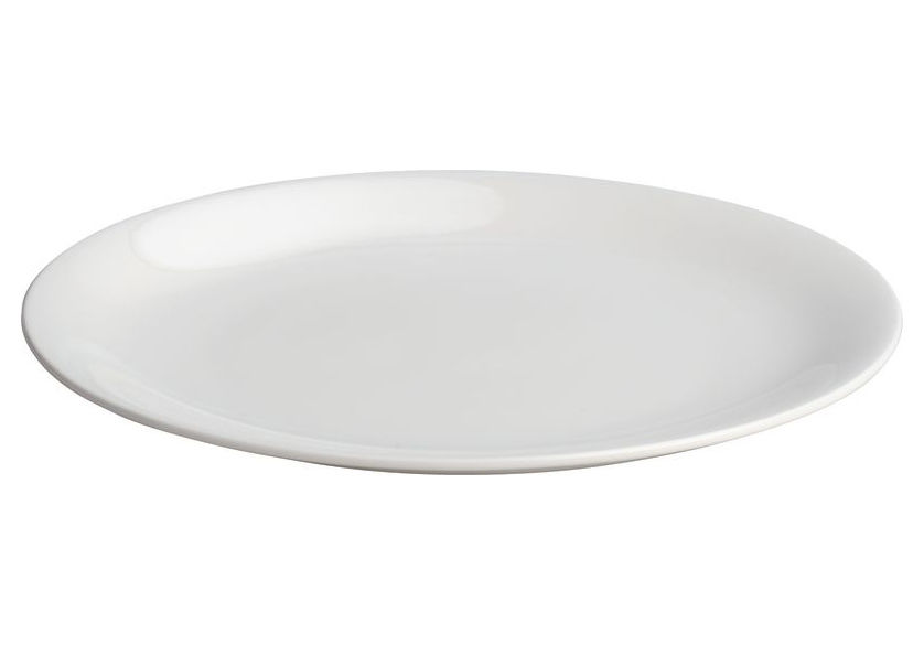 Tavola - Piatti  - Piatto da dessert All-time di A di Alessi - Piatto da dolce - Bianco - Porcellana Bone China