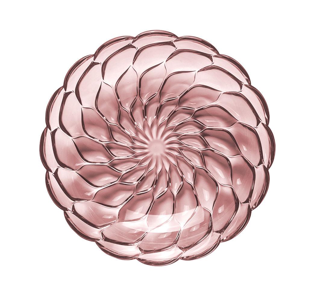 Tavola - Piatti  - Piatto fondo Jellies Family - / Ø 22 cm di Kartell - Rosa - Tecnopolimero termoplastico