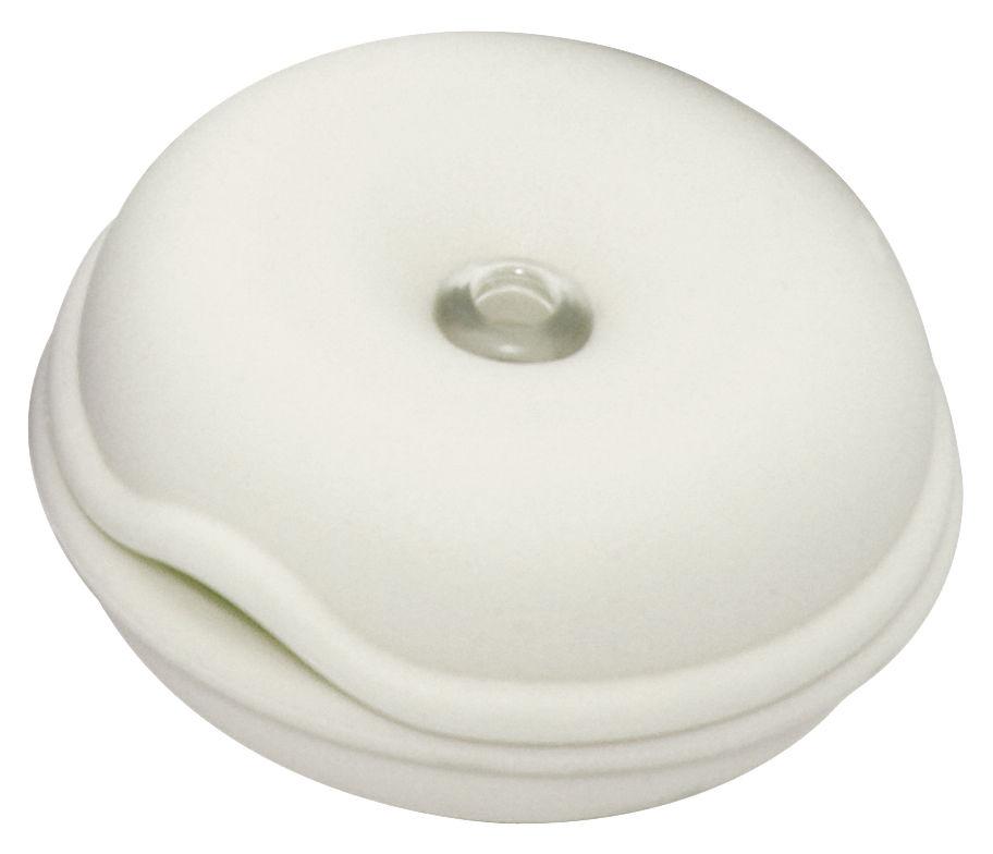 Interni - Insoliti e divertenti - Porta cavo Cable Turtle - Mini di Pop Corn - Bianco - Gomma