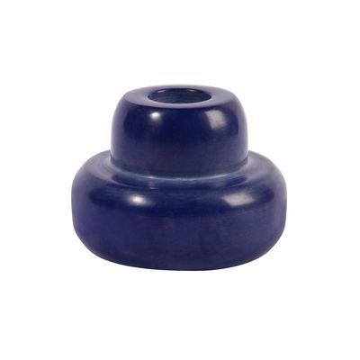 Interni - Candele, Portacandele, Lampade - Portacandela Lapis - 5.5 x Ø 7.5 cm di & klevering - Lapis / Blu - Poudre de marbre, Resina