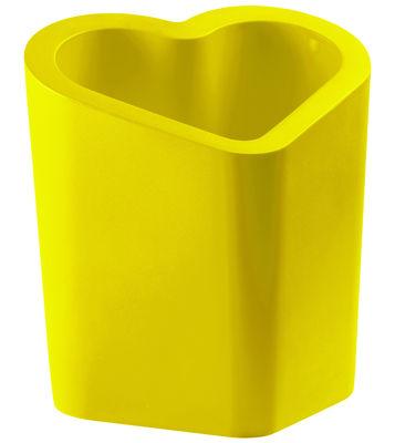 Pot de fleurs Mon Amour - Slide jaune en matière plastique