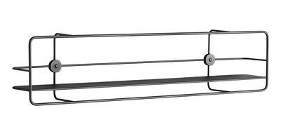 Arredamento - Scaffali e librerie - Mensola Coupé / Orizzontale - Metallo - L 90 x H 21 cm - Woud - Noir - Metallo rivestito in resina epossidica