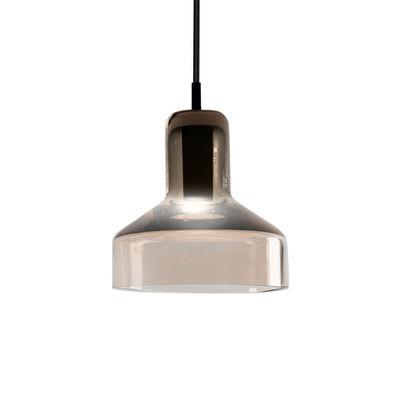 Illuminazione - Lampadari - Sospensione Stab Light Small / Ø 13 x H 14 cm - Vetro artigianale - Danese Light - Marrone - Metallo, Verre soufflé-moulé