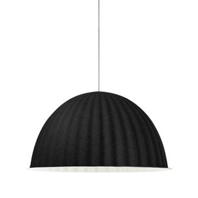 Luminaire - Suspensions - Suspension acoustique Under the bell / Feutre - Ø 82 cm - Muuto - Noir - Feutre recyclé