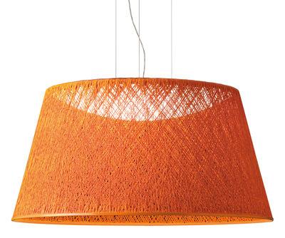 Suspension Wind / Ø 60 x H 30 cm - Vibia orange en matière plastique