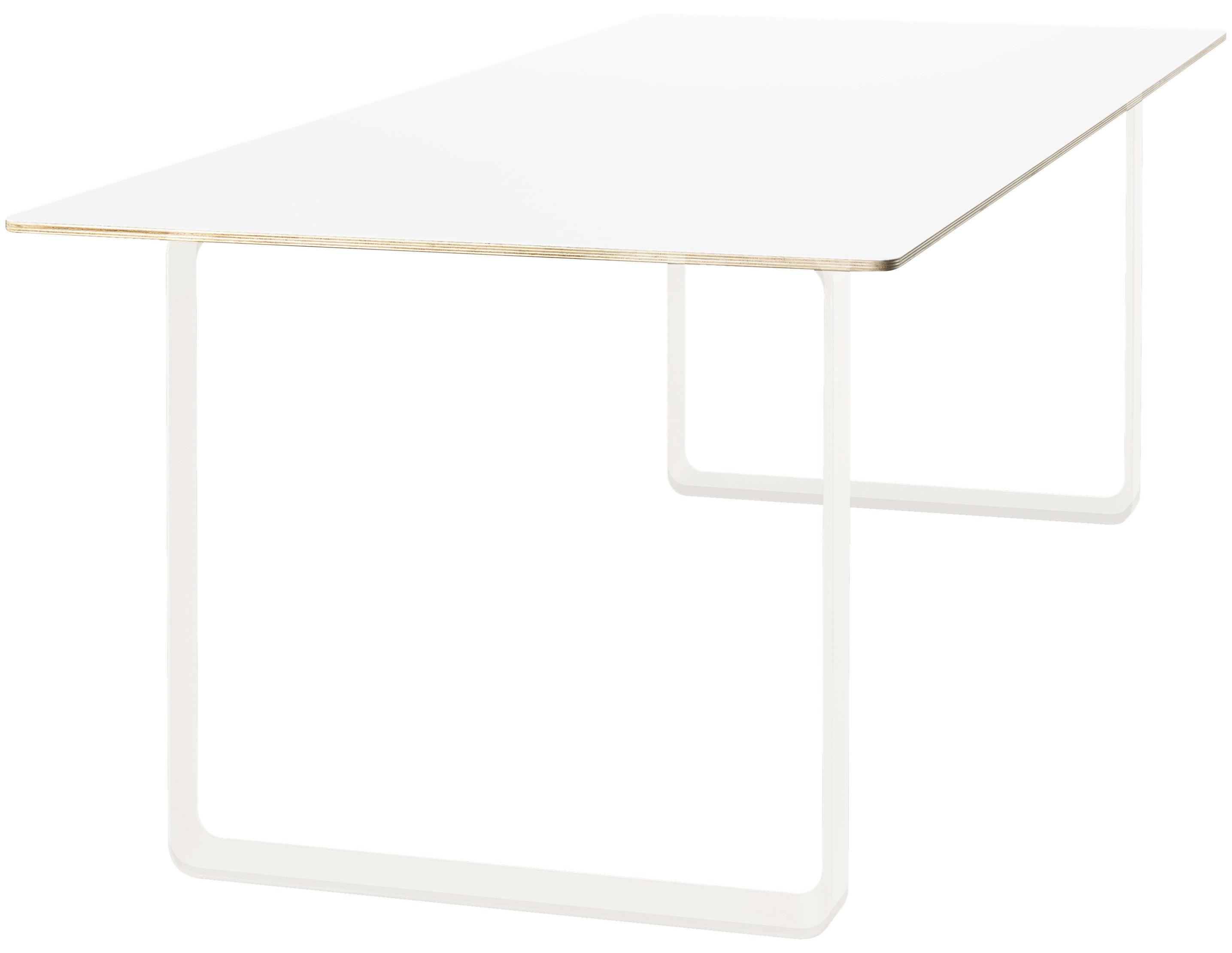 Mobilier - Tables - Table 70-70 / 225 x 90 cm - Muuto - Blanc - Aluminium, Contreplaqué, Mélamine