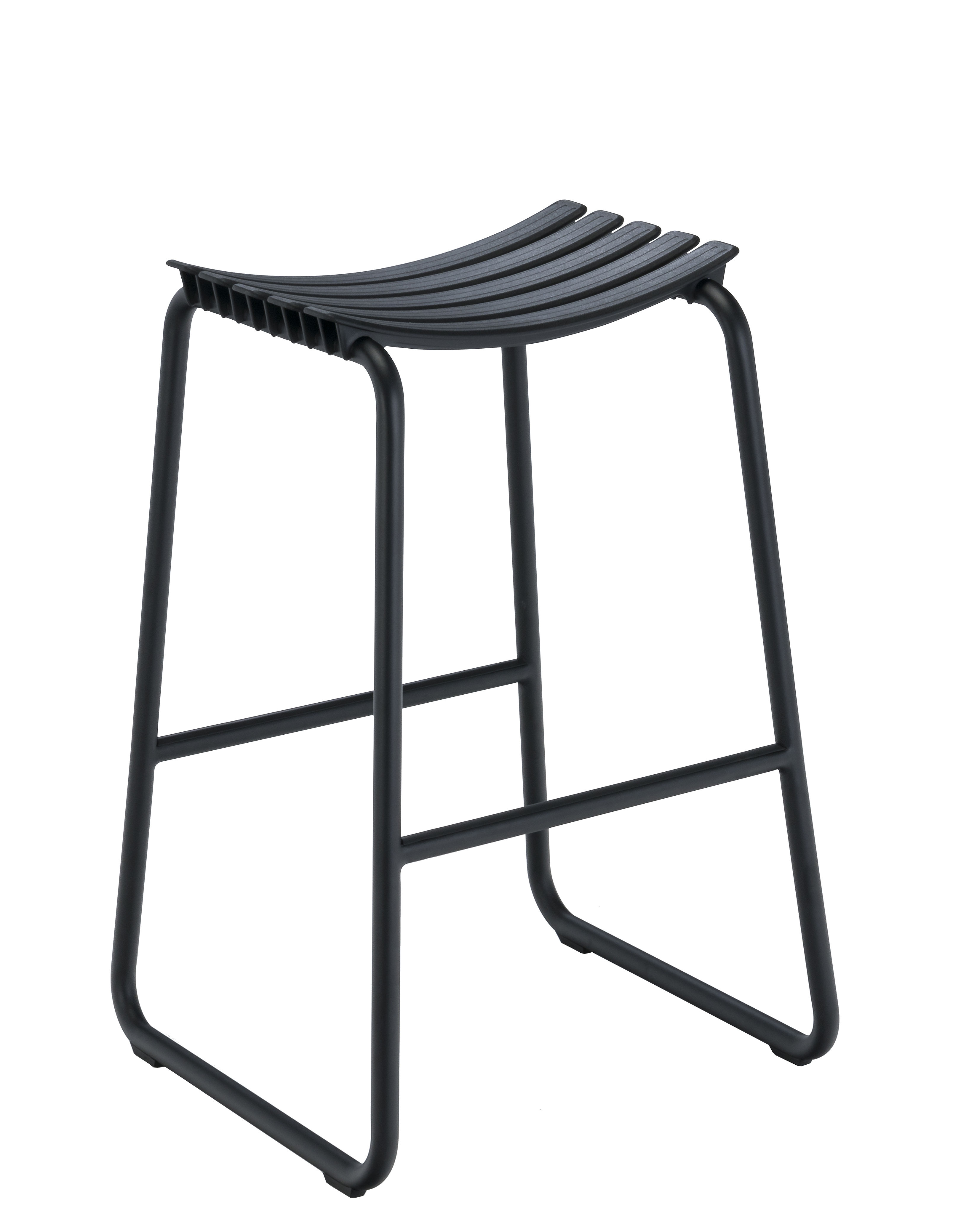 Mobilier - Tabourets de bar - Tabouret haut Clips / H 80 cm - Houe - Noir - Aluminium, Matière plastique