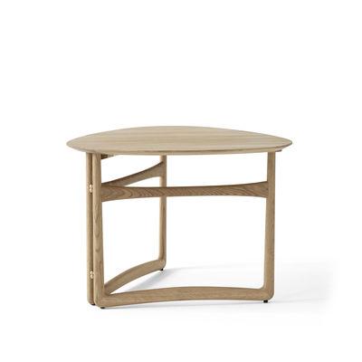 Arredamento - Tavolini  - Tavolino Drop Leaf HM5 (1956) - / Pieghevole - 80 x 78 cm di &tradition - Rovere Bianco - Ottone, Rovere massello