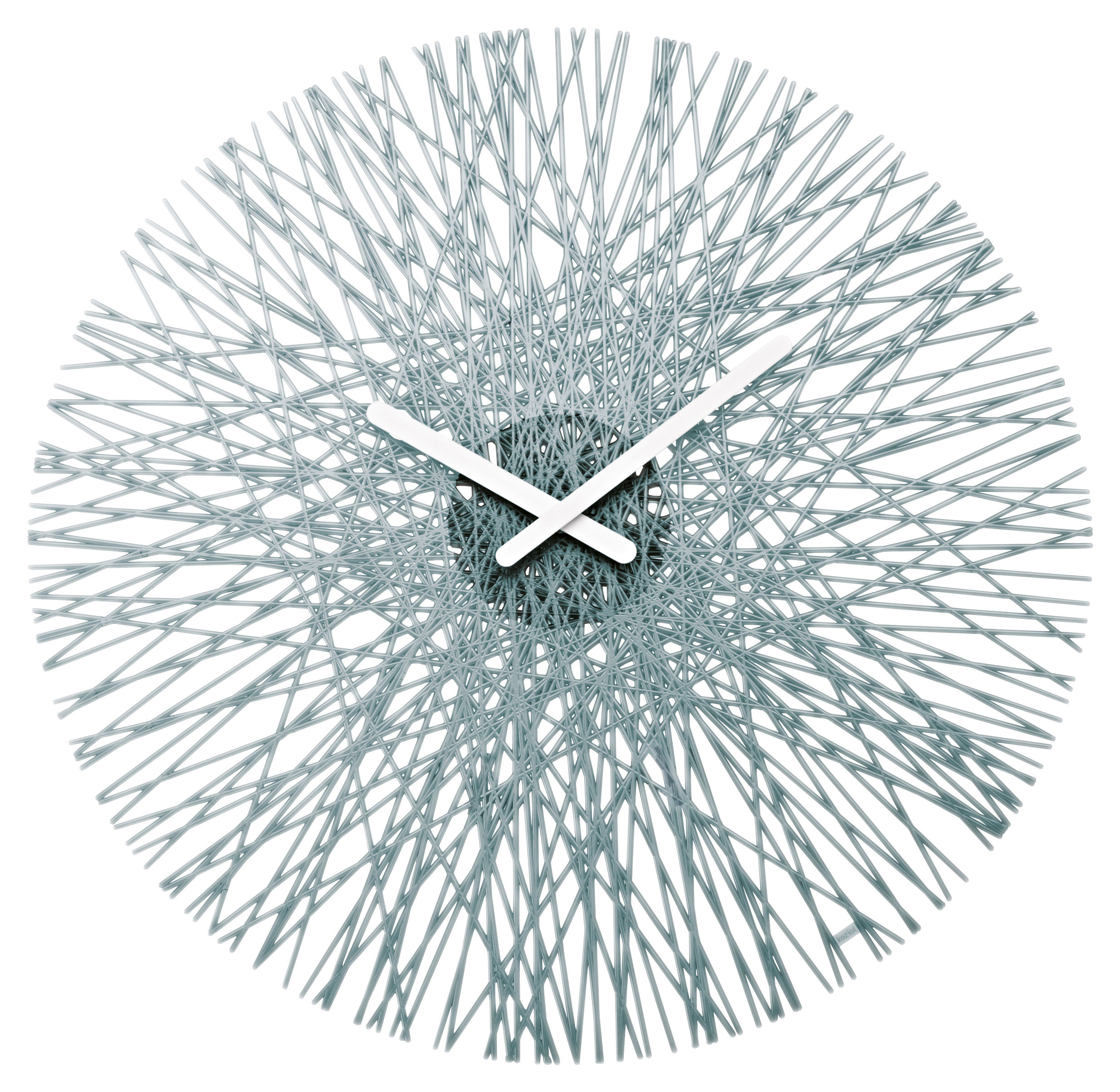 Decoration - Wall Clocks - Silk Wall clock by Koziol - Transparent anthracite - Polycarbonate
