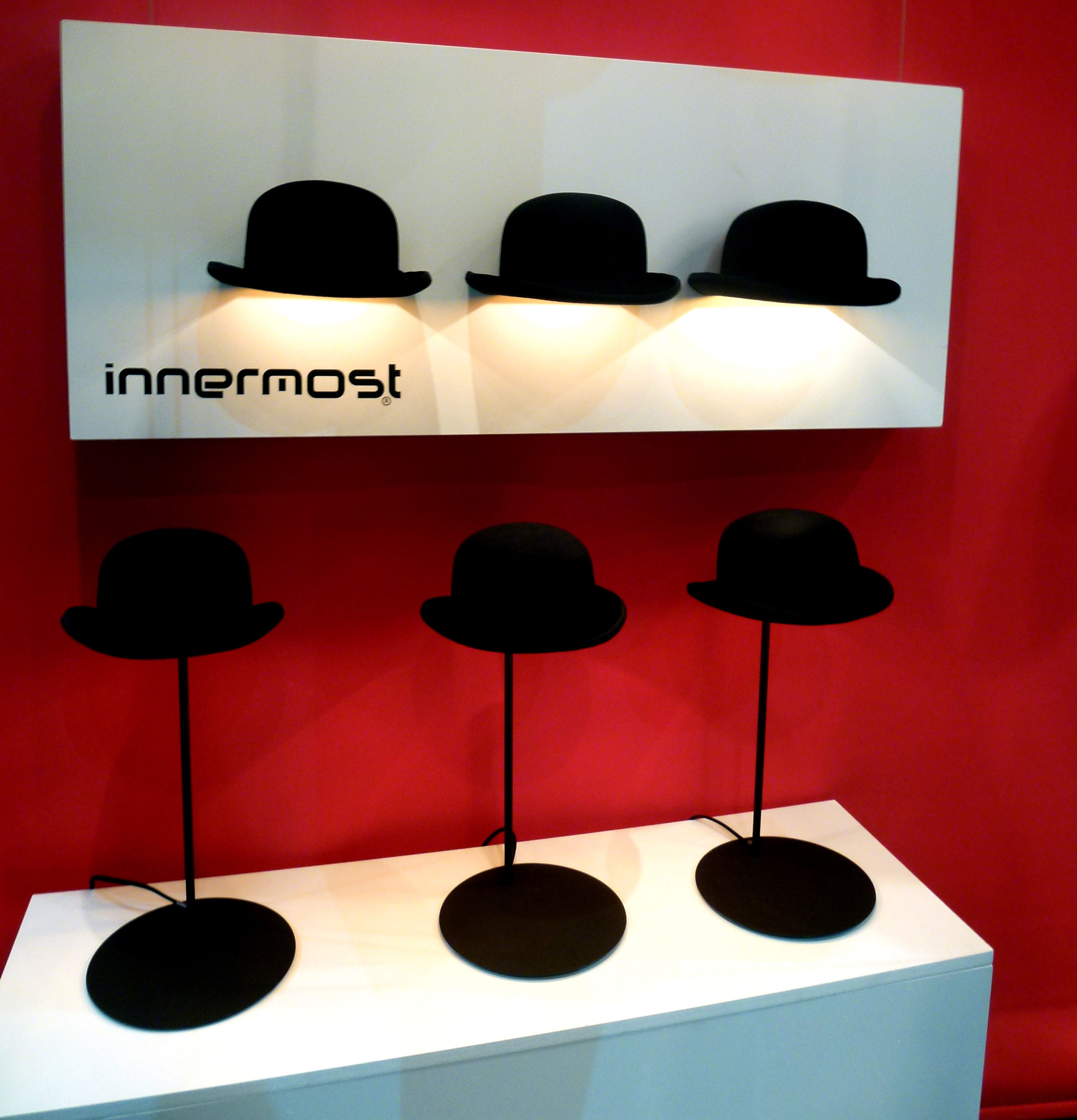 d1221c4cd71 ... Lighting - Wall Lights - Jeeves Wall light by Innermost - Black bowler    Gold inside