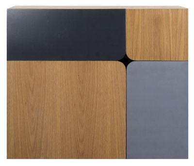 Furniture - Kids Furniture - 1/4 Wall writing desk by ENOstudio - Dark blue & grey / Wood - Placage chêne
