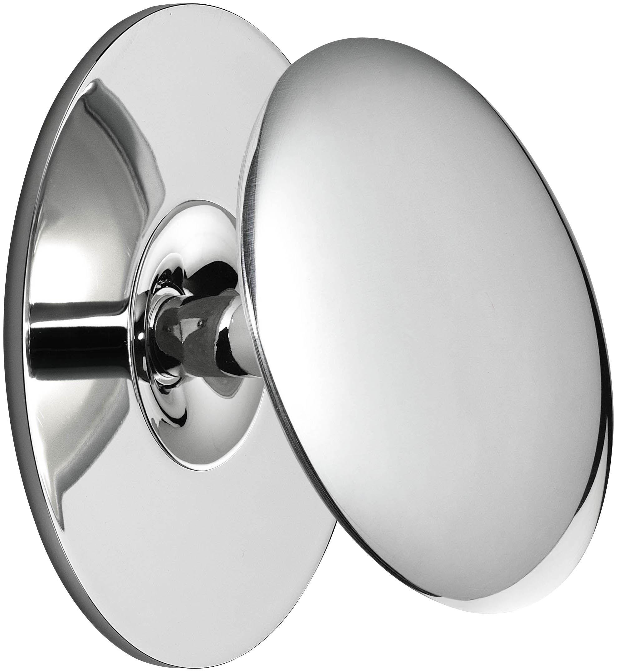 Leuchten - Wandleuchten - Back 2 LED Wandleuchte / Ø 13,1 cm - Flos - Chrom-glänzend - Aluminium moulé sous pression, Methacrylate