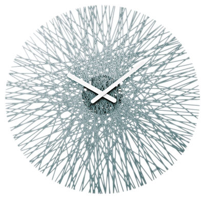 Dekoration - Uhren - Silk Wanduhr - Koziol - Anthrazit transparant - Polykarbonat