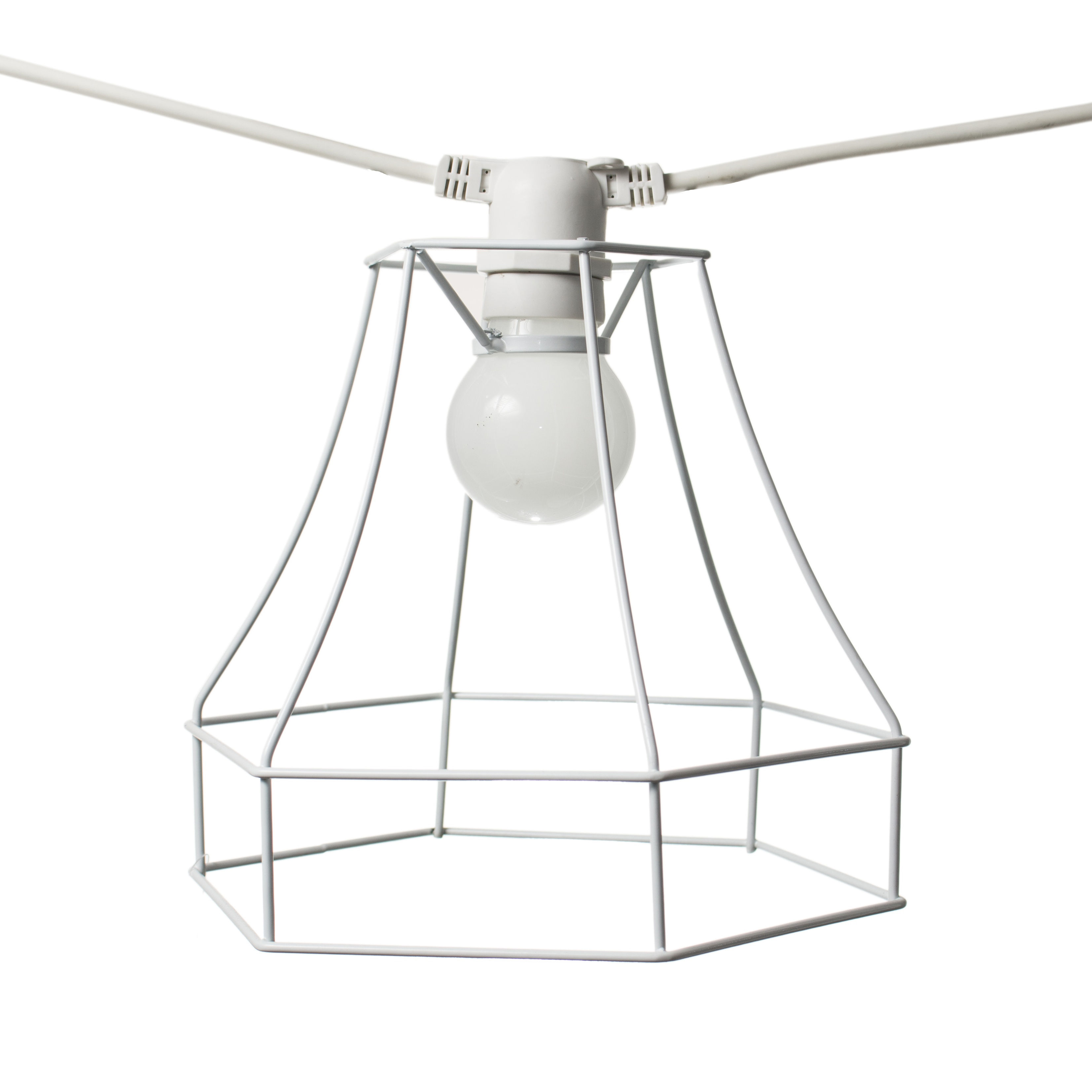 Luminaire - Luminaires d'extérieur - Abat-jour carré / Pour guirlande Bella Vista - Seletti - Carré - Blanc - Métal peint