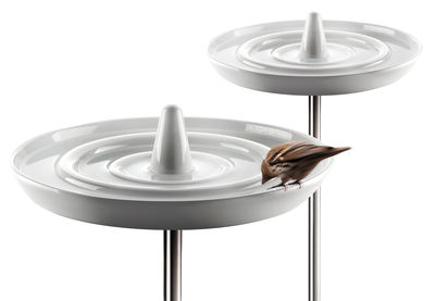 Outdoor - Ornaments & Accessories - Birdbath by Eva Solo - White - Stainless steel, Varnished ceramic