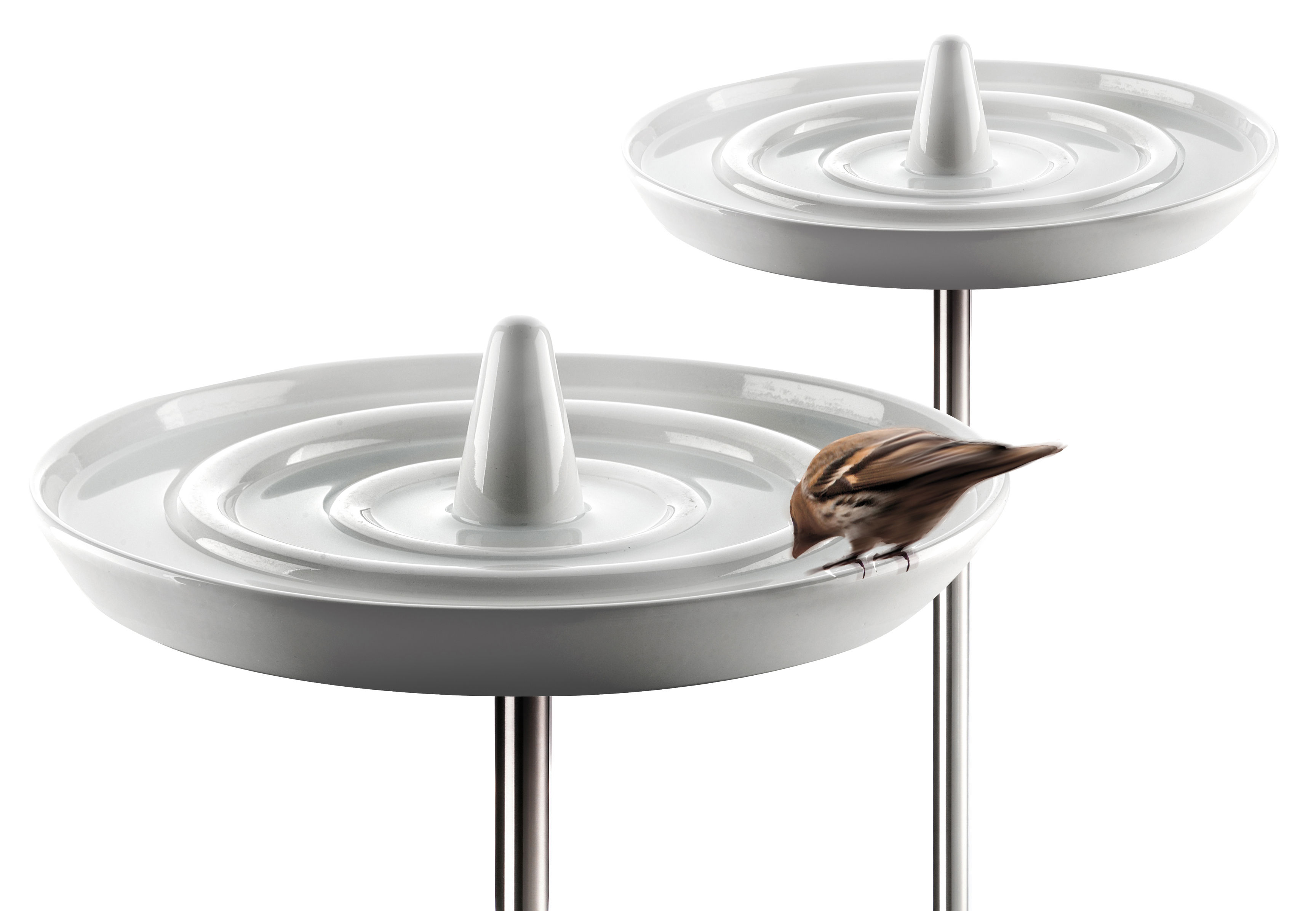 Outdoor ornaments accessories birdbath by eva solo white stainless steel