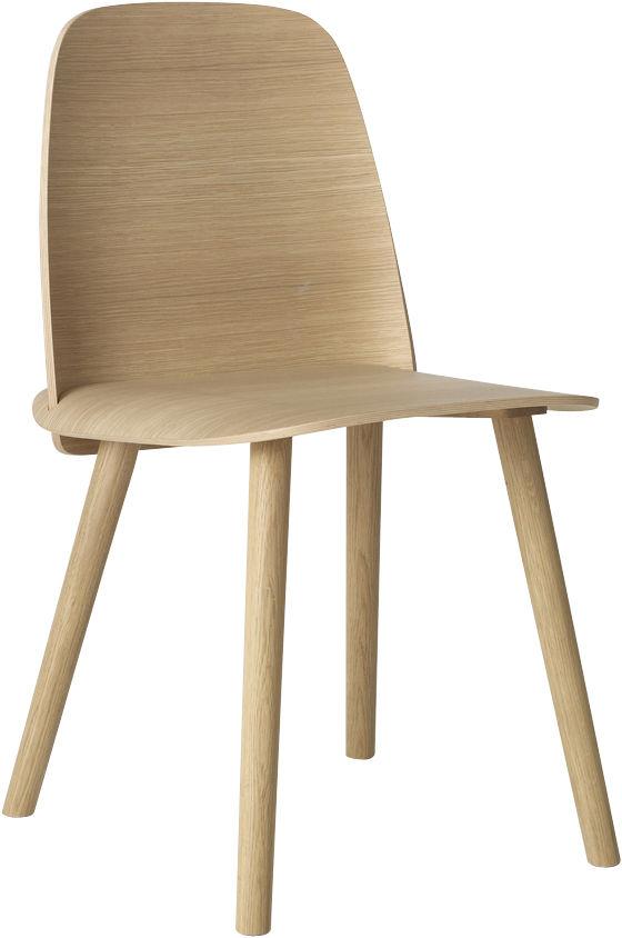 Mobilier - Chaises, fauteuils de salle à manger - Chaise Nerd / Bois - Muuto - Chêne - Chêne naturel
